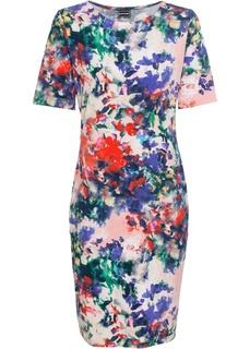 Платье с коротким рукавом, трикотаж Bonprix