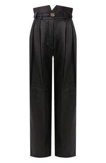 Кожаные брюки Fendi