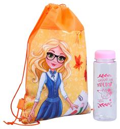 """Мешок для обуви и бутылка для воды """"К школе готов"""" Sima-Land"""