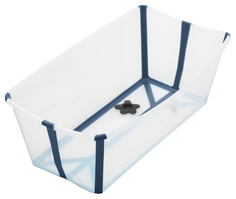 Ванночка Stokke (Стокке) Flexi Bath Макси Transparent Blue 535902
