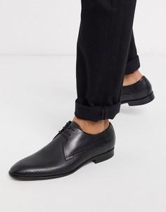 Дерби на шнуровке HUGO-Черный