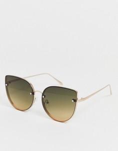 """Большие солнцезащитные очки """"кошачий глаз"""" Aldo Ocean Lens-Золотой"""