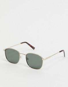 Круглые солнцезащитные очки Le Specs-Золотой