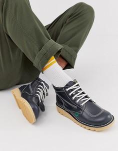 Темно-синие кожаные высокие ботинки Kickers-Темно-синий