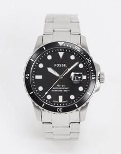 Наручные часы с черным циферблатом Fossil Fb-01 FS5652-Серебряный