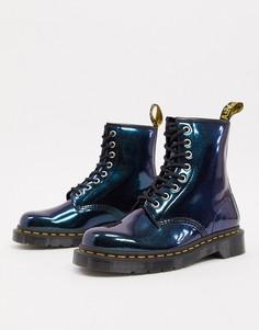 Кожаные ботинки с эффектом металлик Dr Martens 1460-Зеленый