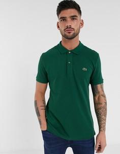 Зеленая узкая футболка-поло из пике Lacoste-Зеленый
