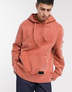 Оранжевый oversized-худи Topman LTD-Серый