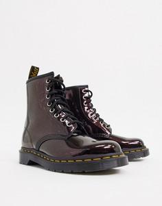 Кожаные ботинки с эффектом металлик Dr Martens 1460-Красный