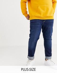 Темно-синие джинсы скинни River Island Big & Tall-Синий