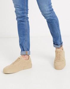 Светло-бежевые кроссовки на массивной подошве ASOS DESIGN-Светло-бежевый