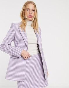 Пиджак лавандового цвета в клеточку & Other Stories-Фиолетовый