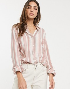 Рубашка бойфренда в полоску с длинными рукавами ASOS DESIGN-Мульти