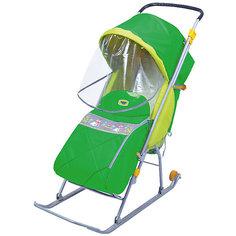 Санки-коляска Ника Тимка Люкс, зеленый Nika Kids
