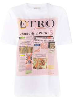 Etro футболка с графичным принтом и логотипом