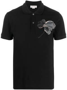 Alexander McQueen футболка с вышивкой