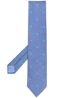 Brioni галстук с вышивкой