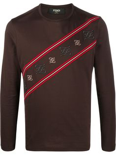 Fendi Karligraphy motif long-sleeved T-shirt