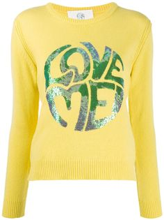 Alberta Ferretti пуловер с длинными рукавами и пайетками
