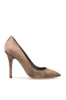 Кожаные туфли с мехом пони Isabel Marant
