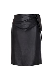 Кожаная юбка Diane von Furstenberg