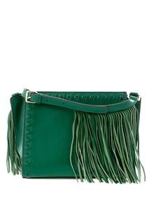 Кожаная сумка Kesweet зеленая Essentiel Antwerp