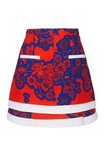 Комбинированная юбка-мини Carven
