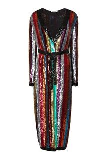 Платье с разноцветными пайетками Attico