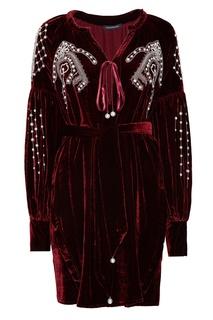 Бархатное платье с вышивкой Wandering