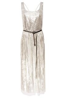 Платье с серебристыми пайетками The Marc Jacobs