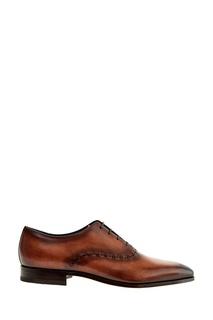 Кожаные туфли с крупным швом Moreschi