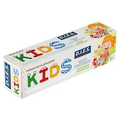 Зубная паста D.I.E.S. Фруктовое мороженое 3+, 35 мл
