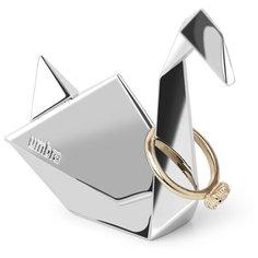 Подставка для колец Umbra Origami лебедь, хром