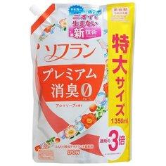 Кондиционер для белья Aroma Natural с натуральным ароматом цветочного мыла Lion 1.35 л пакет