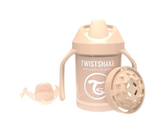 Поильник Twistshake Mini Cup (Твистшейк) 230 мл Pastel Beige пастельный бежевый 78271