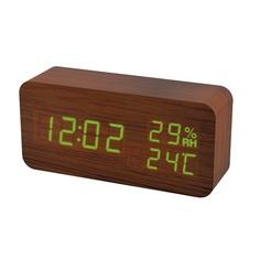 Часы настольные многофункциональные Perfeo Wood