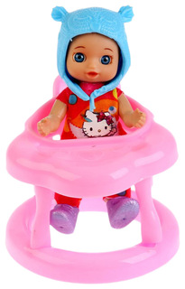 Кукла Карапуз с ходунками и аксессуарами 12 см YL1701U-RU-HK