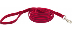 Поводок Каскад нейлон с латексной нитью двухсторонний для собак (20 мм х 10 м, красный)