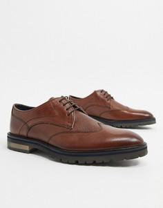 Коричневые кожаные туфли на шнуровке Silver Street-Коричневый