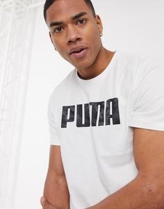Белая футболка с короткими рукавами и логотипом Puma-Белый