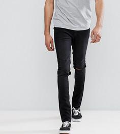 Черные джинсы скинни с рваными коленями Cheap Monday TALL-Черный