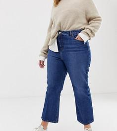 Укороченные расклешенные джинсы ASOS DESIGN Curve Egerton-Синий