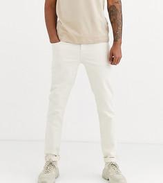 Суженные книзу светло-бежевые джинсы ASOS DESIGN Tall-Белый