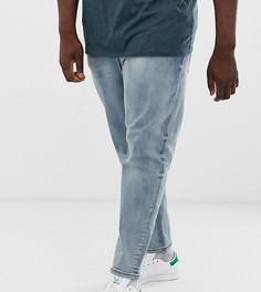 Выбеленные суженные книзу джинсы ASOS DESIGN Plus-Синий
