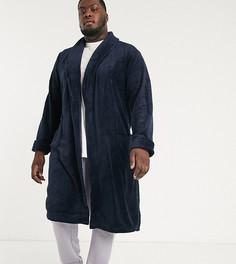 Темно-синий флисовый халат French Connection Plus