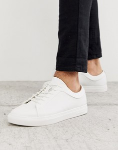 Белые кожаные кроссовки Jack & Jones-Белый