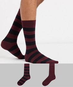 Набор из 2 пар носков в полоску BOSS-Красный