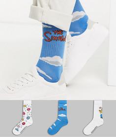 3 пары спортивных носков с принтом ASOS DESIGN-Мульти