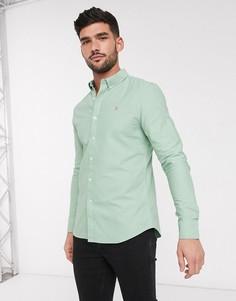 Зауженная рубашка с длинными рукавами Farah-Зеленый