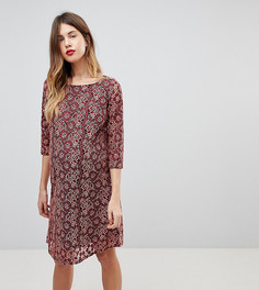 Бордовое кружевное платье мини Mamalicious-Мульти Mama.Licious
